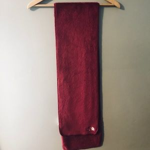 Maroon North Face Scarf